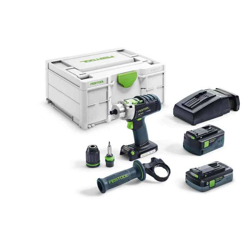 FESTOOL Perceuse-visseuse à percussion sans fil QUADRIVE PDC 18/4 (Machine complète) en coffret SYSTAINER - FESTOOL - 576467