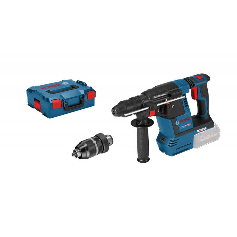 BOSCH Perforateur-burineur SDS-Plus GBH 18V-26 F (machine seule) en coffret L-BOXX - BOSCH - 0611910001