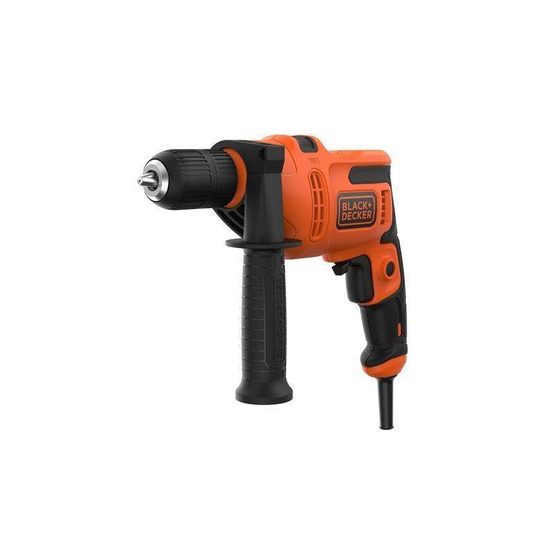 Black & Decker Perceuse à percussion 500W en boîte carton - BLACK & DECKER - BEH200-QS