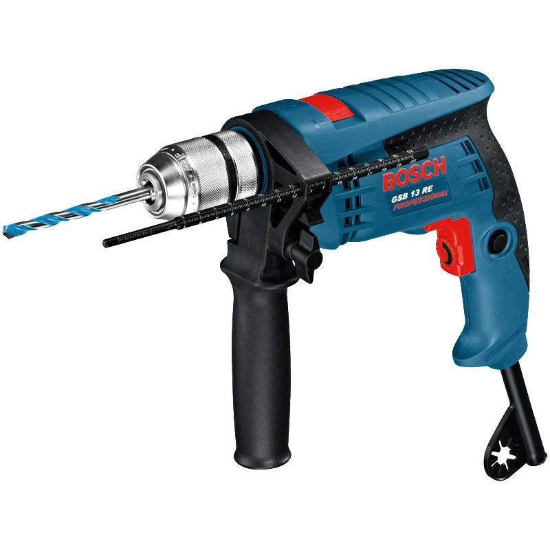 BOSCH Perceuse à percussion 600W GSB 13 RE en coffret standard - BOSCH - 0601217103