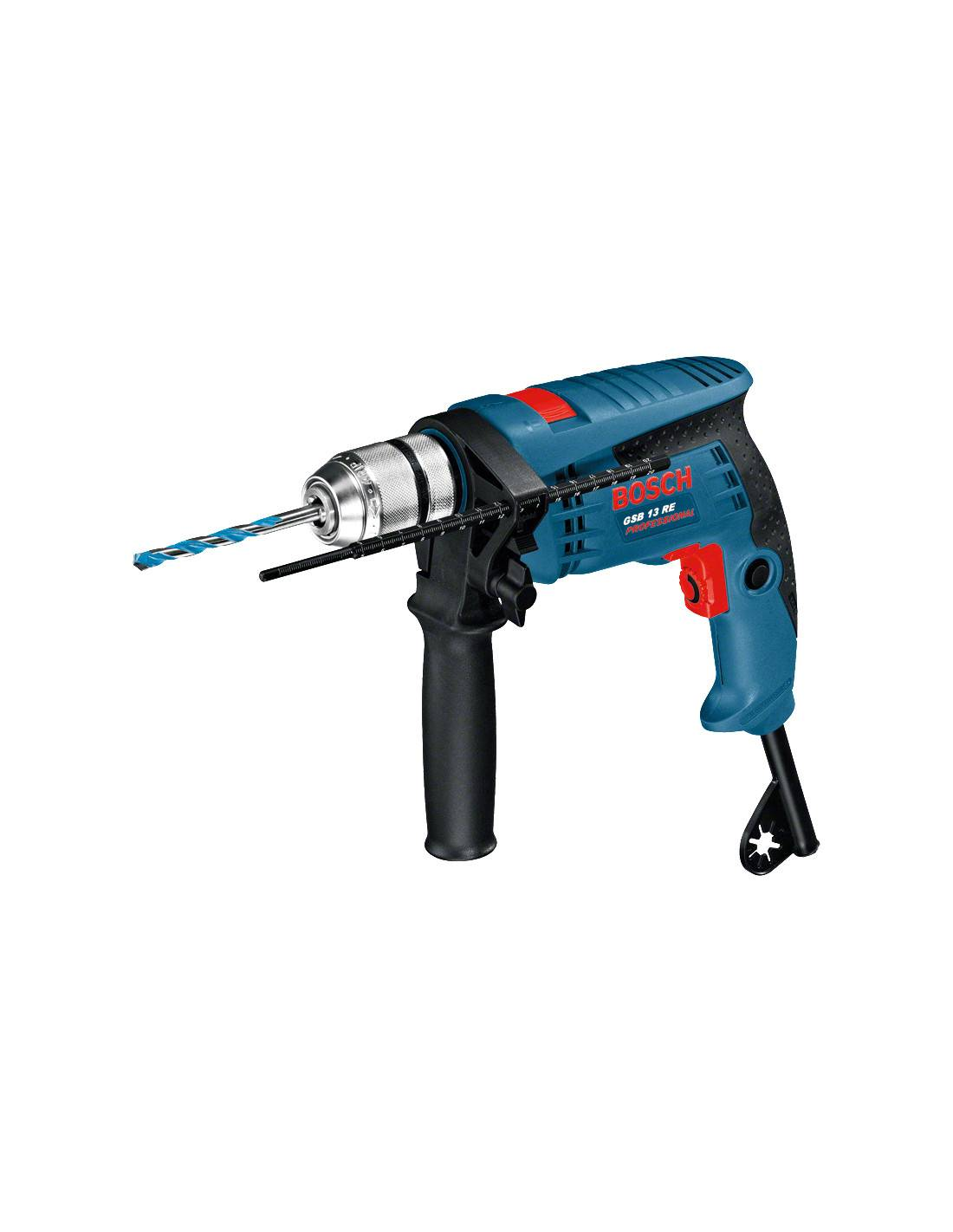 Perceuse à percussion BOSCH 600W GSB 13 RE en coffret standard - 0601217101