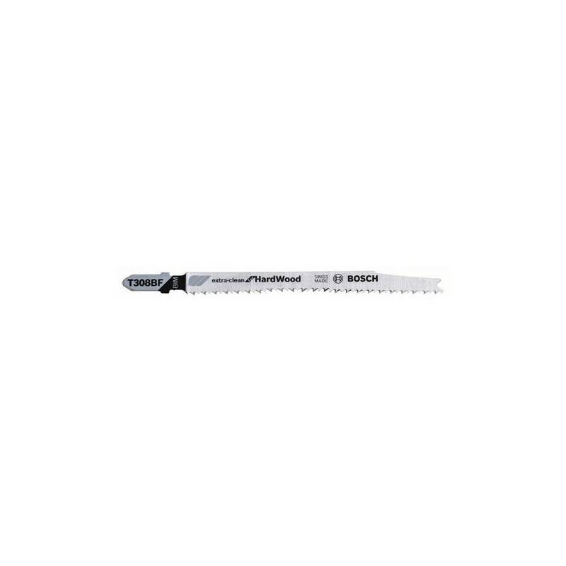 BOSCH 3 Lames pour scie sauteuse 'Extra-Clean for Hard Wood' (T308BF) - BOSCH - 2608636568