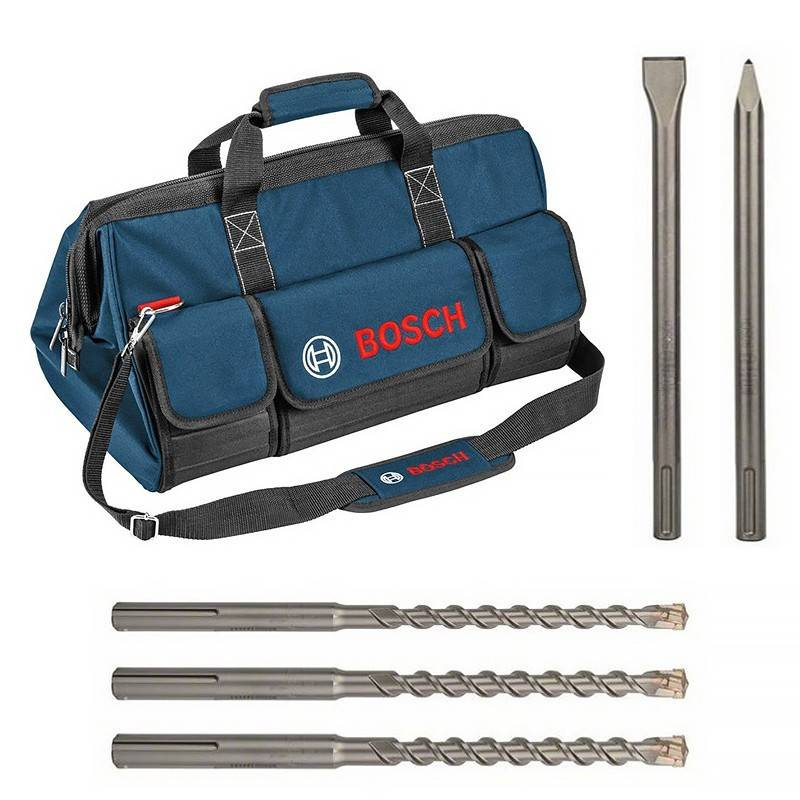 BOSCH Pack SDS-MAX (Forets + Pic + Burin) en sac - BOSCH - 0615990HP7