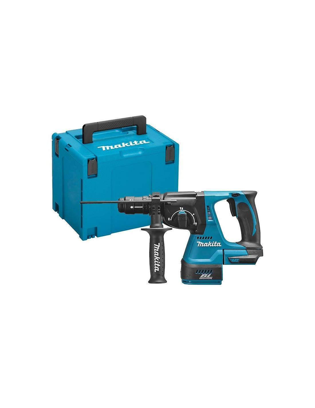 MAKITA - Perfo-burineur SDS+ 36V (2x18V) 26 mm (machine seule) en coffret MAKPAC - DHR264ZJ