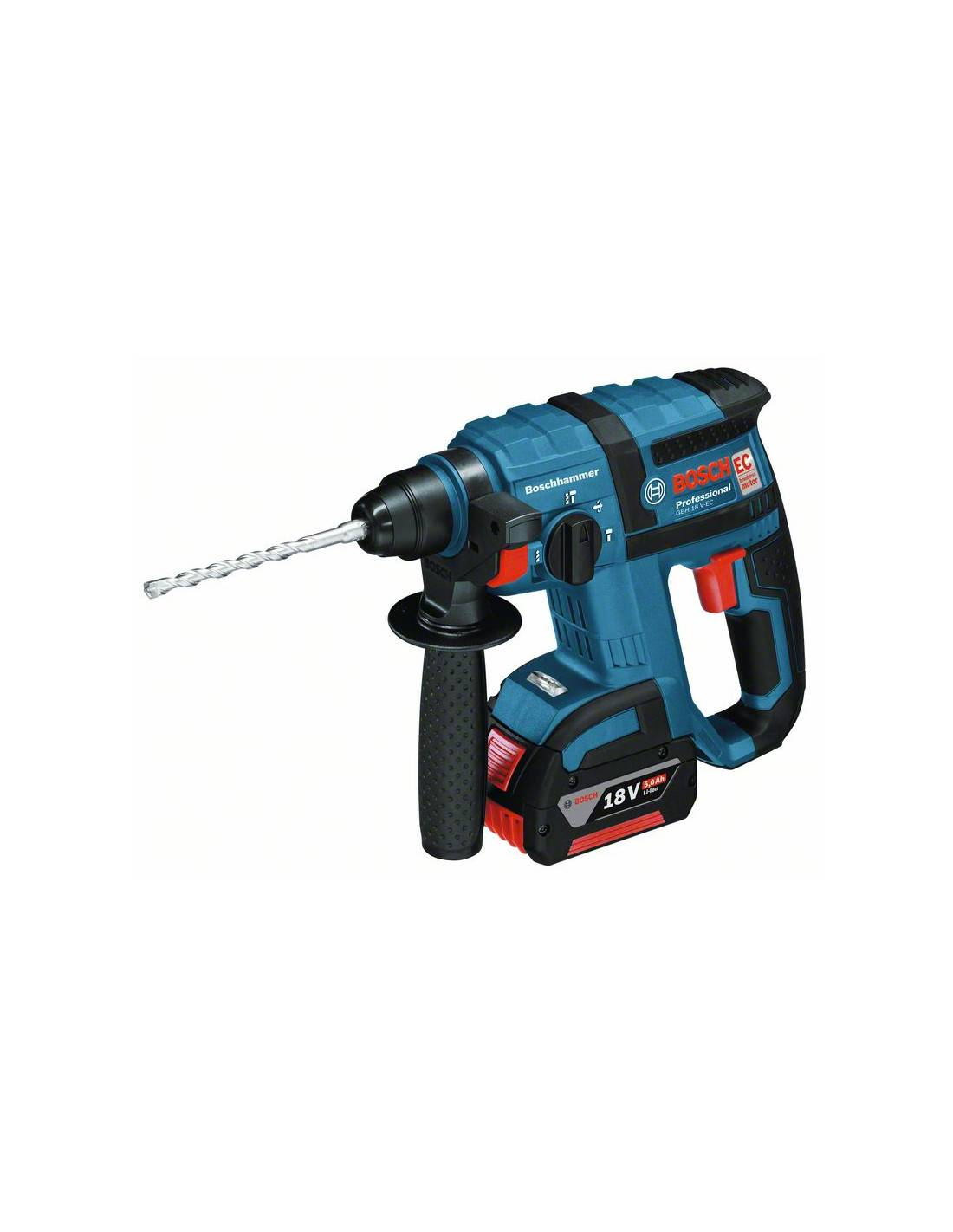 BOSCH - Perforateur SDS+ GBH 18 V-EC (machine seule) en coffret L-BOXX - 0611904003
