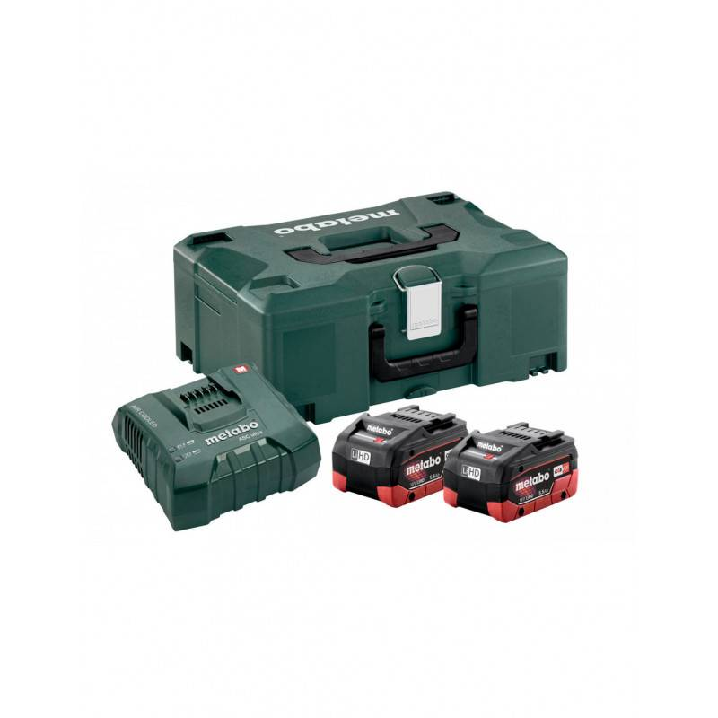 METABO Pack 2 batteries 18V + 1 chargeur en coffret METALOC - METABO