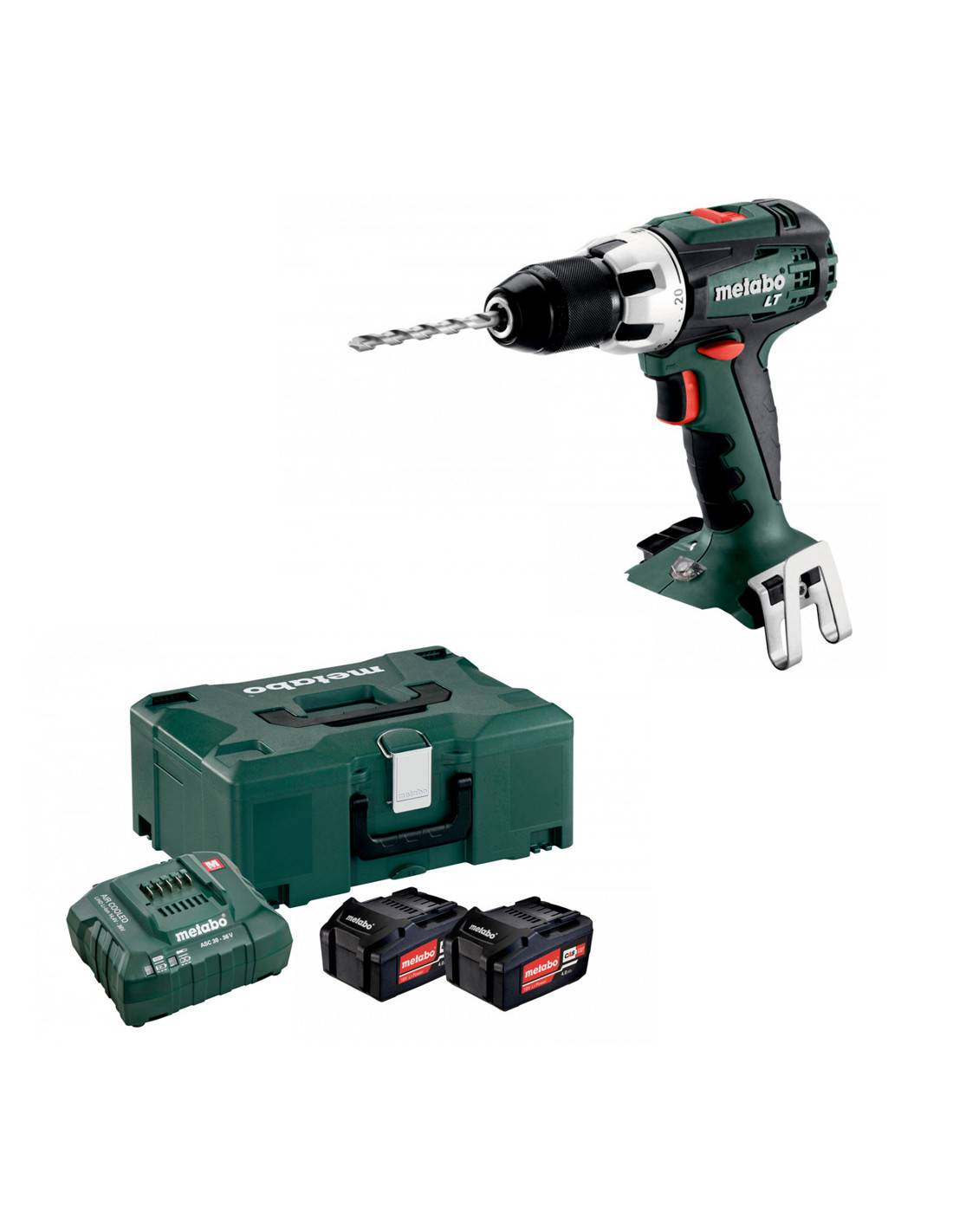 Perceuse visseuse 18V BS 18 LT METABO en coffret METALOC