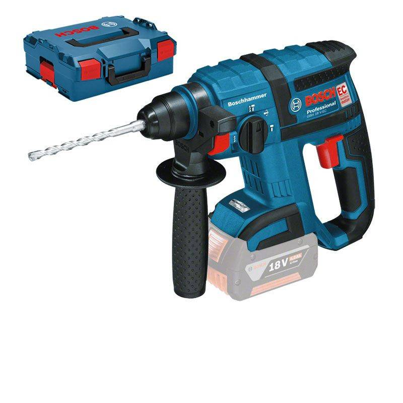 BOSCH Perforateur sans-fil SDS plus GBH 18 V-EC (machine seule) en coffret L-BOXX - BOSCH - 0611904003