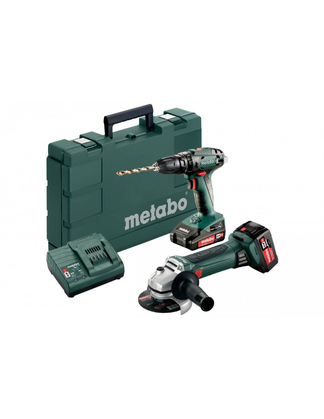 Pack perceuse à percussion SB 18 et meuleuse d'angle W 18 LTX 125 Quick en coffret standard - METABO - 685089000