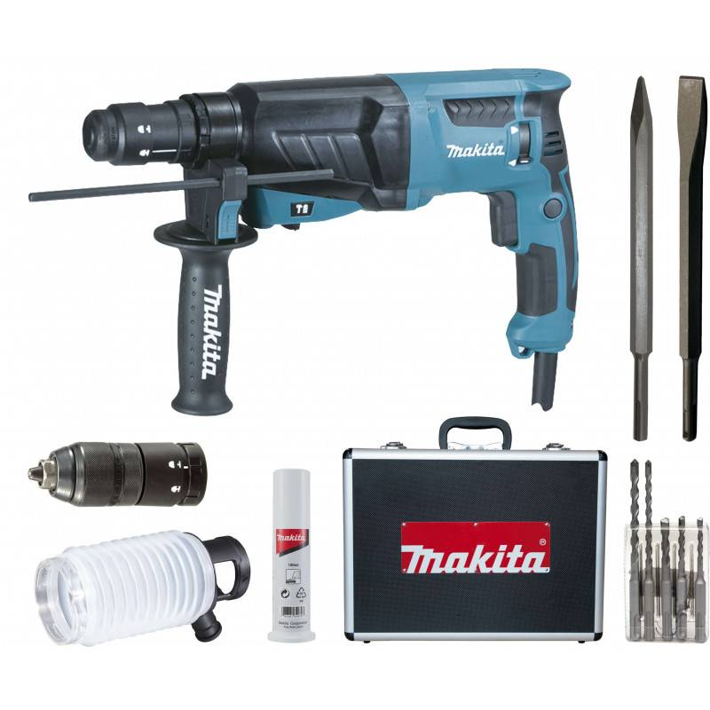 MAKITA Perfo-burineur SDS+ 800W en coffret alu - MAKITA - HR2630TX4