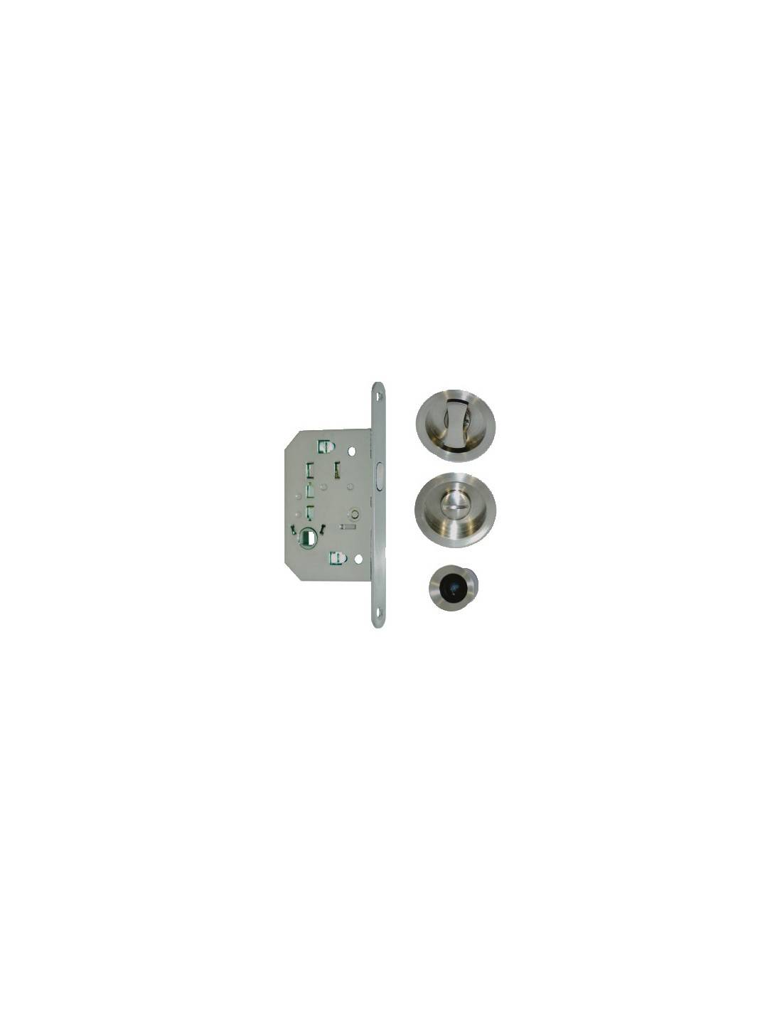 EUROWALE - Kit pour porte coulissante inox condamnation - IN015
