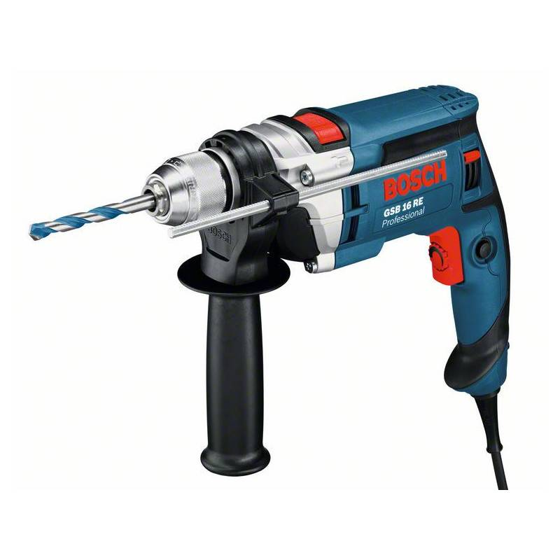 BOSCH Perceuse à percussion 750W GSB 16 RE en coffret standard - BOSCH - 060114E500