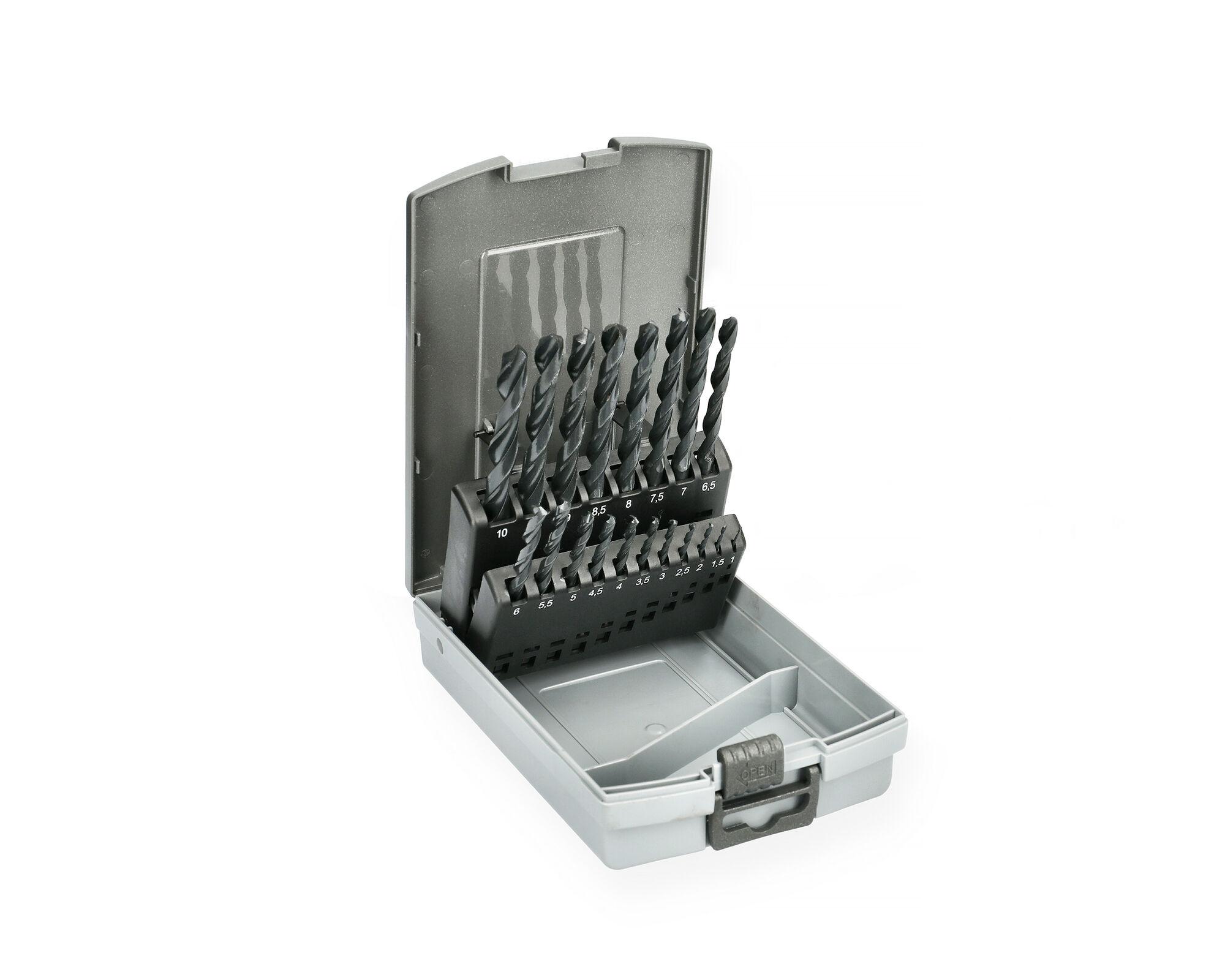 HANGER Coffret de 19 forets métaux HSS laminés - HANGER - 155090