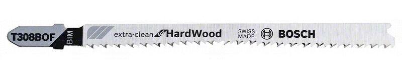 BOSCH Lame de scie sauteuse 117mm BIM - T 308 BOF Extra-Clean for Hard Wood - BOSCH - 2608636639