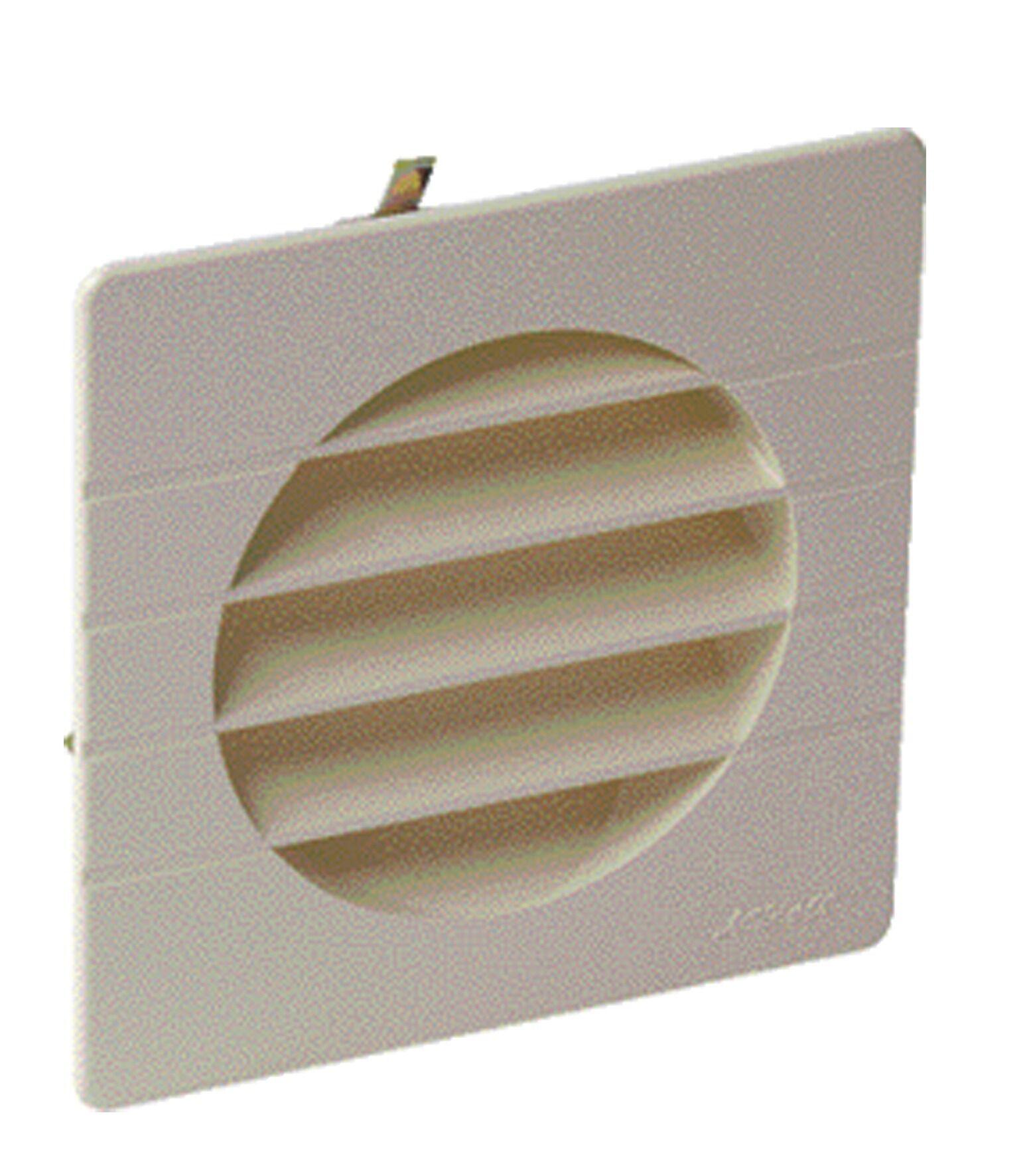 NICOLL Grille de ventilation à encastrer extérieur pour tubes PVC Ø 80 coloris sable - NICOLL - 1GETM80