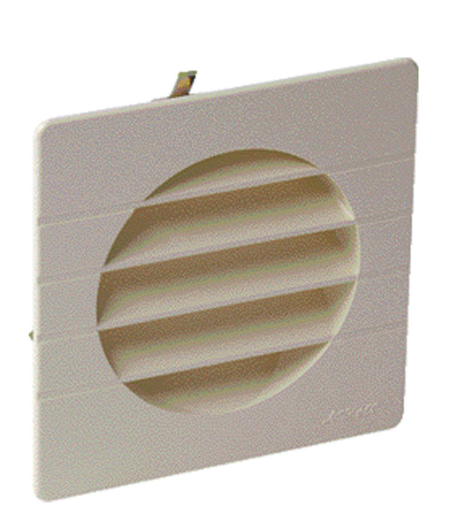 NICOLL Grille de ventilation à encastrer extérieur pour tubes PVC Ø 100 coloris sable - NICOLL - 1GETM100