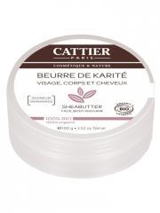 Cattier Beurre de Karité 100% Bio 100 g - Boîte 100 g