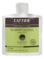 Cattier Shampoing Cuir Chevelu Gras Argile Verte 250 ml - Flacon 250 ml