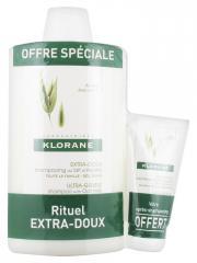 Klorane Shampoing Extra-Doux au Lait d'Avoine 400 ml + Baume Après-Shampoing Extra-Doux au Lait d'Avoine 50 ml Offert - Lot 2 produits