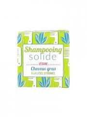 Lamazuna Shampooing Solide Cheveux Gras Litsée Citronnée 55 g - Boîte 1 pain de 55 g