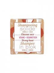 Lamazuna Shampooing Solide Cheveux Secs Vanille Coco 55 g - Boîte 1 pain de 55 g
