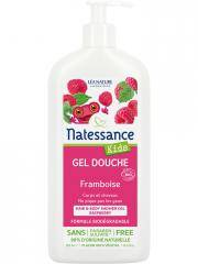 Natessance Kids Gel Douche Framboise 500 ml - Flacon-Pompe 500 ml