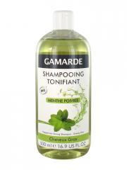 Gamarde Shampooing Tonifiant Menthe Poivrée Cheveux Gras Bio 500 ml - Flacon 500 ml
