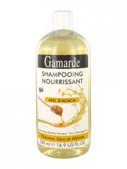 Gamarde Shampooing Nourrissant Miel d'Acacia Cheveux Secs et Abîmés Bio 500 ml - Flacon 500 ml