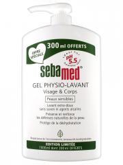 Sebamed Gel Physio-Lavant Visage et Corps 1000 ml dont 300 ml Offerts - Flacon-Pompe 1000 ml