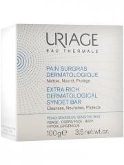 Uriage Pain Surgras Dermatologique 100 g - Boîte 1 pain de 100 g