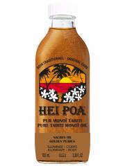 Hei Poa Pur Monoï Tahiti Nacres Or Sublimatrices 100 ml - Bouteille 100 ml