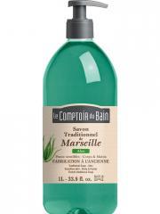 Le Comptoir du Bain Savon Traditionnel de Marseille Aloe 1 L - Flacon-Pompe 1 L