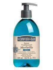 Le Comptoir du Bain Savon Traditionnel de Marseille Océan 500 ml - Flacon-Pompe 500 ml