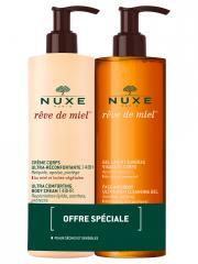 Nuxe Rêve de Miel Gel Lavant Surgras 400 ml + Crème Corps Ultra-Réconfortante 400 ml - Lot 2 produits