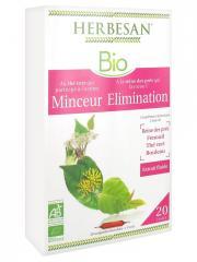 Herbesan Bio Complexe Thé Vert Reine des Prés Minceur Elimination 20 Ampoules de 15 ml - Boîte 20 ampoules de 15 ml