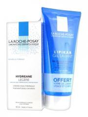 La Roche-Posay Hydreane Légère 40 ml + Gel Lavant 100 ml Offert - Lot 40 ml + 100 ml
