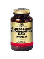 Solgar Glucosamine Chondroïtine MSM Complexe 60 Comprimés - Flacon 60 comprimés
