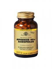 Solgar Advanced 40+ Acidophilus 60 Gélules Végétales - Flacon 60 gélules