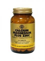 Solgar Calcium Magnésium Plus Zinc 100 Comprimés - Flacon 100 comprimés