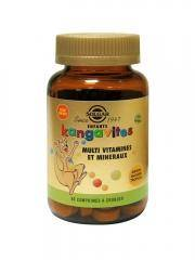 Solgar Kangavites Multi Vitamines et Minéraux Arôme Naturel Tropical 60 Comprimés à Croquer - Flacon 60 comprimés