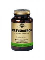 Solgar Resveratrol 60 Gélules Végétales - Flacon 60 gélules