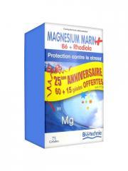 Biotechnie Magnésium Marin B6 Rhodiola 75 Gélules dont 25% Offert - Boîte 75 gélules