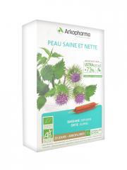 Arkopharma Arkofluides Peau Saine et Nette Bio 20 Ampoules - Boîte 20 Ampoules de 10 ml