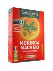 Santarome Bio Moringa Maca Bio 20 Ampoules - Boîte 20 Ampoules de 10 ml