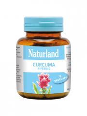 Naturland Curcuma Pipérine 75 Végécaps - Boîte 75 végécaps