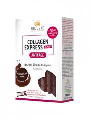 Biocyte Collagen Express Bar Anti-Âge Barre Beauté de la Peau Chocolat Noir 6 Barres - Boîte 6 barres