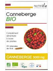 Nutrivie Canneberge Bio 20 Ampoules - Boîte 20 Ampoules de 15 ml