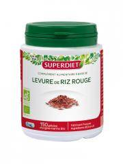 Super Diet Levure de Riz Rouge Bio 150 Gélules - Boîte plastique 150 gélules