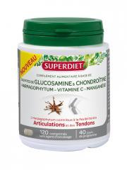Super Diet Sulfates de Glucosamine et Chondroïtine 120 Comprimés - Boîte 120 Comprimés
