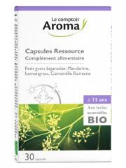Le Comptoir Aroma Capsules Ressource aux Huiles Essentielles Bio 30 Capsules - Boîte 30 Capsules